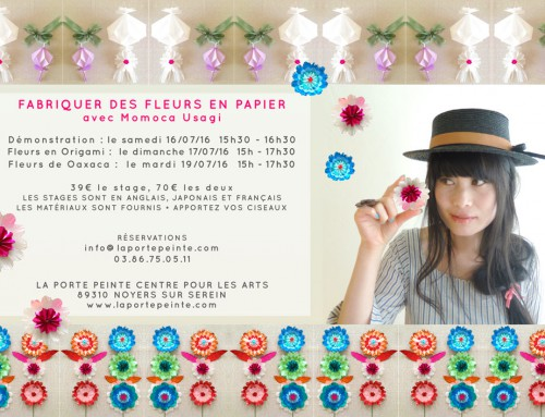 Learn to make paper flowers with Momoca Usagi